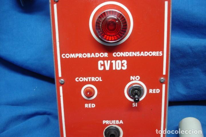 Radios antiguas: COMPROBADOR CONDENSADORES CV 103 + REGALO - Foto 3 - 144280770