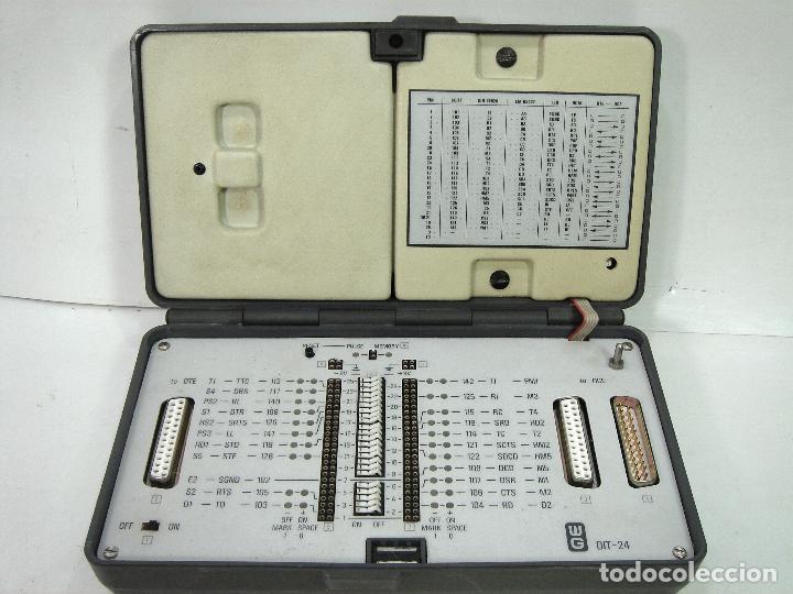 TESTER COMPROBADOR INTERFACE- WG WANDEL&GOLTERMANN DIT-24 -TELEFONICA TELEMATICA TELEFONO (Radios - Aparatos de Reparación y Comprobación de Radios)