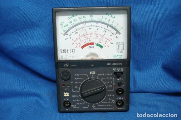 TESTER/ POLÍMETRO ANALÓGICO MARCA BOAR HC-3030S - NO PROBADO (Radios - Apparate zur Reparatur und Überprüfung von Radios)