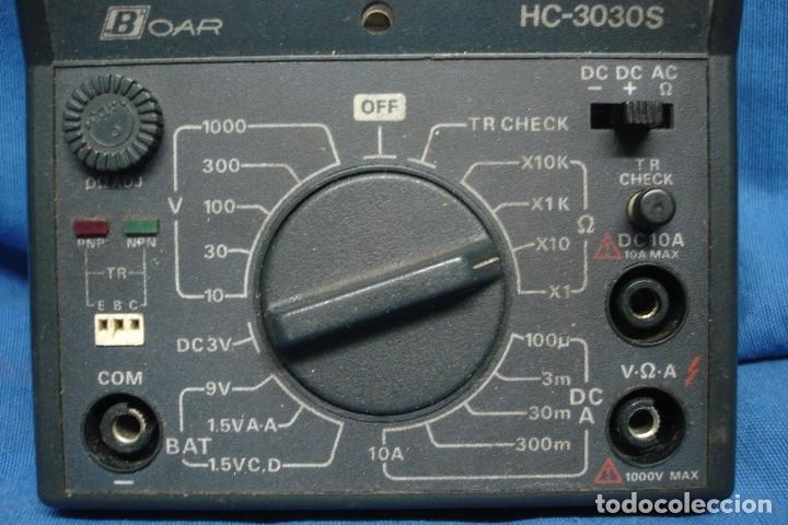 Alte Radios: TESTER/ POLÍMETRO ANALÓGICO MARCA BOAR HC-3030S - NO PROBADO - Foto 4 - 148232062