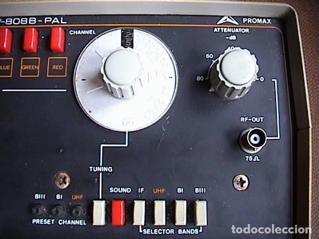 Radios antiguas: Generador de señales Promax Gv-808B PAL Mira electrónica - Foto 3 - 149815238