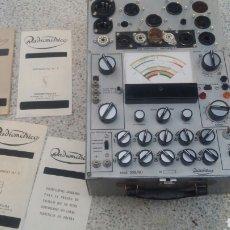 Radios antiguas: COMPROBADOR DE VÁLVULAS RADIOMETRICO. Lote 165906506