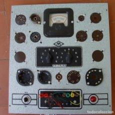 Radios antiguas: COMPROBADOR DE VÁLVULAS RADIO MAYMO...SANNA. Lote 167658456