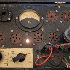 Radios antiguas: COMPROBADOR DE VÁLVULAS MAYMÓ - REVISADO Y FUNCIONANDO - MUCHAS FOTOS. Lote 169403204