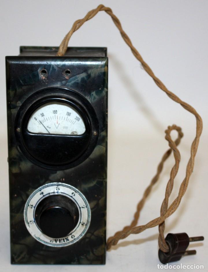 ANTIGUO ELEVADOR REDUCTOR DE VOLTAJE. MARCA SEVEIN. AÑOS 40 (Radios - Aparatos de Reparación y Comprobación de Radios)