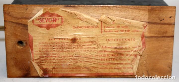 Radios antiguas: ANTIGUO ELEVADOR REDUCTOR DE VOLTAJE. MARCA SEVEIN. AÑOS 40 - Foto 6 - 169663512