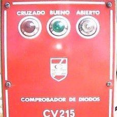Radios antiguas: COMPROBADOR DE DIODOS CV215. Lote 206897877