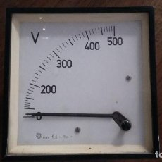 Radios antiguas: VOLTIMETRO 500 VOLTIOS.. Lote 171007015