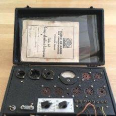 Radios antiguas: MALETIN COMPROBADOR DE VALVULAS Y SU KIT DEL CURSO DE RADIO ,MAYMO.. Lote 215297911