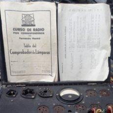 Radios antiguas: COMPROBADOR DE VALVULAS RADIO MAYMO AÑOS 50...SANNA. Lote 172385869