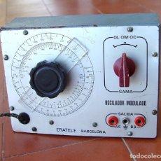 Radios antiguas: OSCILADOR, GENERADOR DE RADIO FRECUENCIA A VALVULAS ERATELE....SANNA. Lote 172812313