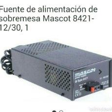 Radios antiguas: FUENTE DE ALIMENTACIÓN MASCOT.. Lote 172937683