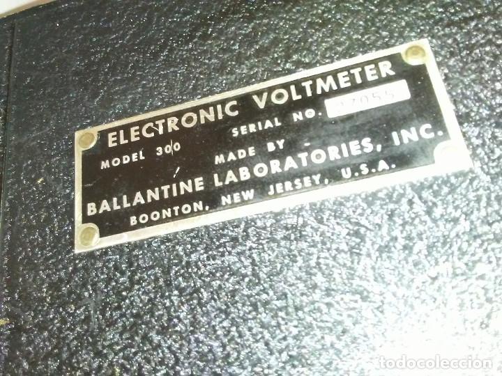 Radios antiguas: Voltímetro Militar de válvulas BALLANTINE MOD 643 Vintage - Foto 5 - 172938977