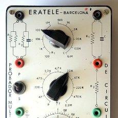 Radios Anciennes: PROBADOR MÚLTIPLE DE CIRCUITOS ERATELE, BARCELONA. Lote 174044328