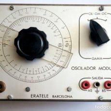 Radios antiguas: OSCILADOR MODULADO ERATELE, BARCELONA. Lote 174044514