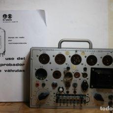 Radios antiguas: PROBADOR DE VALVULAS ERATELE. Lote 175146157