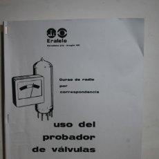 Radios antiguas: MANUAL COMPROBADOR DE VALVULAS. Lote 175146289