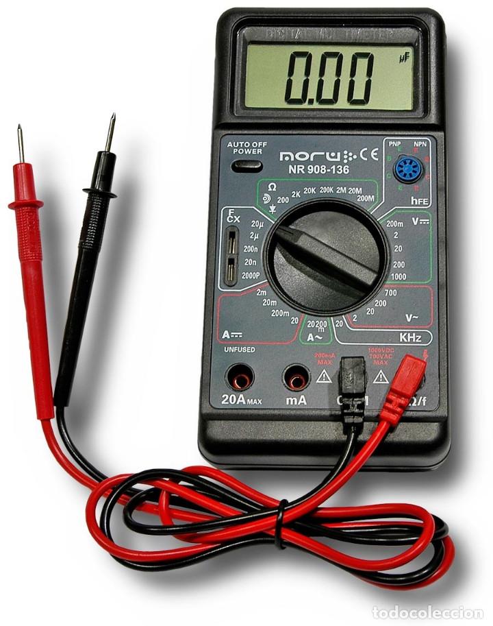 Radios antiguas: POLIMETRO DIGITAL MULTIMETRO CAPACIMETRO FRECUENCIMETRO NORU NR908-136 + CURSO PDF GRATIS - Foto 4 - 223068386