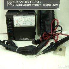 Radios antiguas: DIFICIL KYORITSU 3301 TESTER INSULATION - FUNCIONANDO -MEDIDOR ANALOGICO DE AISLAMIENTO MULTIMETRO. Lote 240143635
