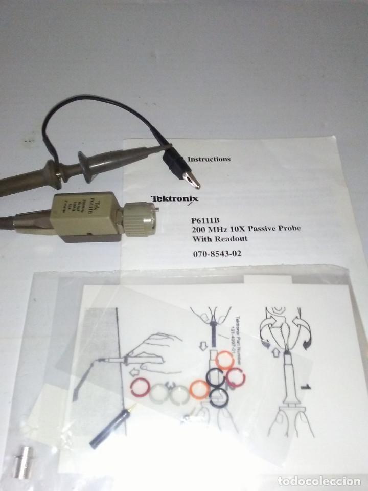 Radios antiguas: Punta de prueba Osciloscopio TEKTRONIX P6111B 200MHZ 10X - Foto 5 - 184208890