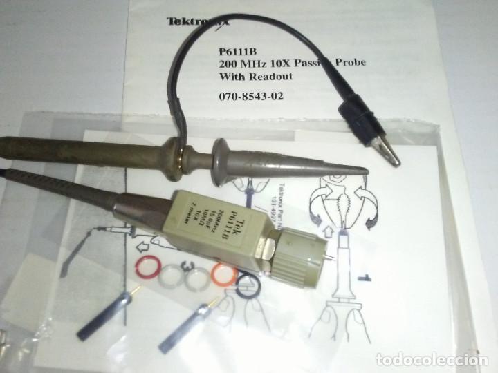 Radios antiguas: Punta de prueba Osciloscopio TEKTRONIX P6111B 200MHZ 10X - Foto 7 - 184208890