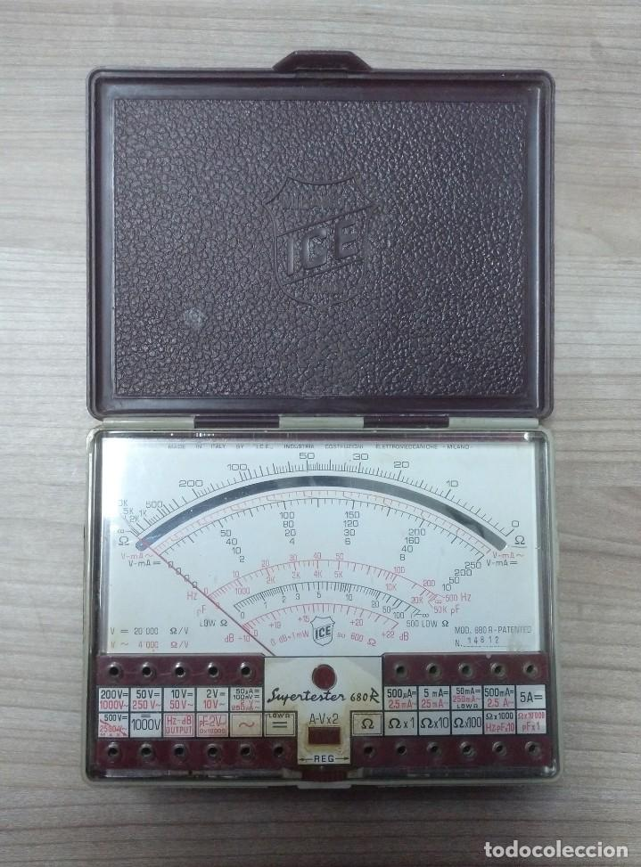 ELECTRONICA, POLIMETRO, TESTER ICE CON MANUAL, NO PUEDO ASEGURAR QUE FUNCIONE PERFECTAMENTE (Radios - Aparatos de Reparación y Comprobación de Radios)