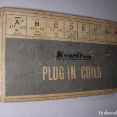 Radios antiguas: ANTIGUO JUEGO DE BOBINAS KYORITSU COMO NUEVAS EN SU CAJA. Lote 194953136
