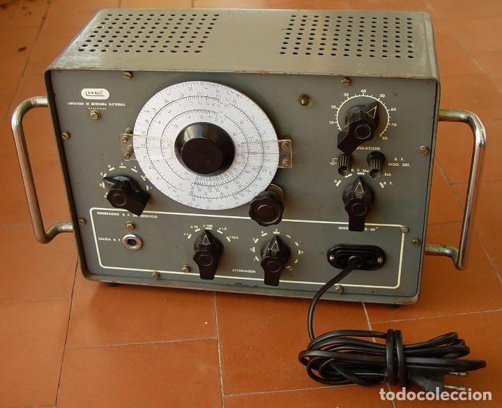 GENERADOR OSCILADOR DE RADIO FRECUENCIA LME GR-60...SANNA (Radios - Aparatos de Reparación y Comprobación de Radios)