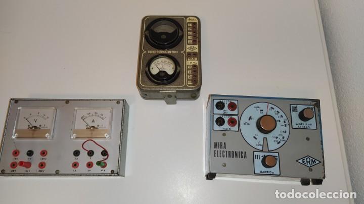 Radios antiguas: LOTE DE APARATOS DE COMPROBACION DEL CURSO DE RADIO DE MAYMO. - Foto 2 - 201342721