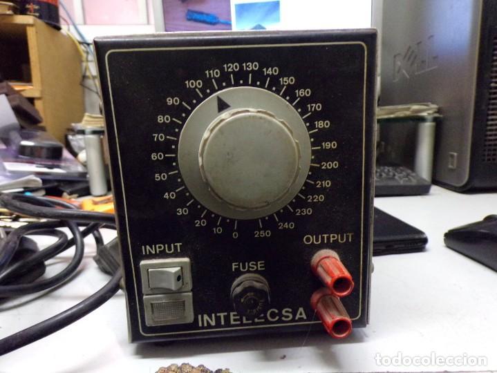 Radios antiguas: antiguo transformador luz intelecsa para todos los voltages de 220 lo pasa a desde 0 a 250 radio - Foto 2 - 210176231