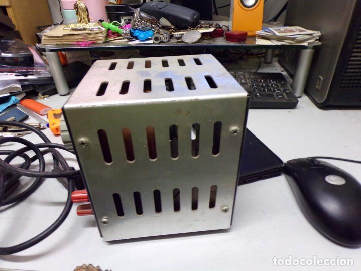 Radios antiguas: antiguo transformador luz intelecsa para todos los voltages de 220 lo pasa a desde 0 a 250 radio - Foto 3 - 210176231