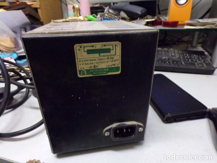Radios antiguas: antiguo transformador luz intelecsa para todos los voltages de 220 lo pasa a desde 0 a 250 radio - Foto 5 - 210176231