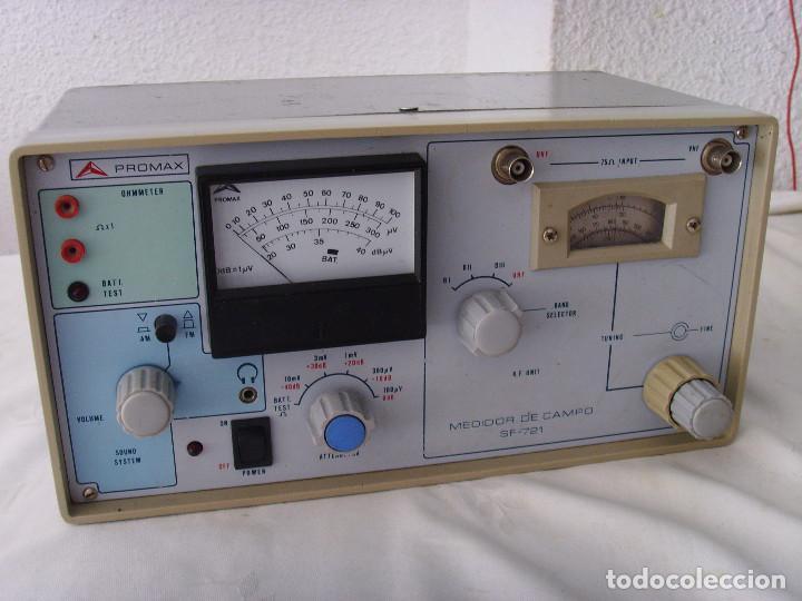 Radios antiguas: MEDIDOR DE CAMPO PROMAX SF-721 - Foto 4 - 218436756