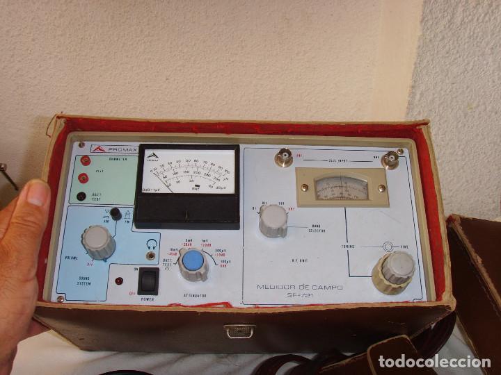 Radios antiguas: MEDIDOR DE CAMPO PROMAX SF-721 - Foto 8 - 218436756