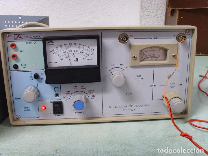 Radios antiguas: MEDIDOR DE CAMPO PROMAX SF-721 - Foto 15 - 218436756