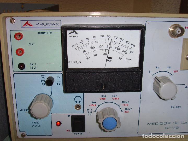 Radios antiguas: MEDIDOR DE CAMPO PROMAX SF-721 - Foto 18 - 218436756