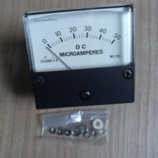 Radios Anciennes: ELECTRONICA, PANEL METER DEMESTRES DC 50 MA. MICROAMPERIMETRO - NUEVO - 6,5 X 6 CM.. Lote 219629570