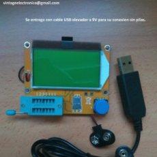 Rádios antigos: ESR TESTER. MEDIDOR DE COMPONENTES ELECTRÓNICOS. (ALIMENTACIÓN PILA 9V O USB).. Lote 230492410