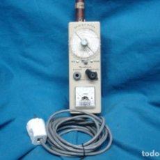 Radios antiguas: ANTIGUO GRID DIP METER MLO. GD-10 CON 6 BOBINAS DE BANDA MÁS- PIEZA DE MUSEO, DIFICIL DE CONSEGUIR. Lote 220424505