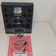 Radios antiguas: ANTIGUO COMPROBADOR DE VALVULAS DEL CURSO DE RADIO MAYMO. ¡¡¡¡FUNCIONA!!!. Lote 221377670