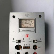 Radios antiguas: COMPROBADOR DE DIODOS Y TRANSISTORES- MEZCLADOR DE AUDIO DOS ENTRADAS UNA SALIDA Y JUEGO SALES KIT. Lote 221749635
