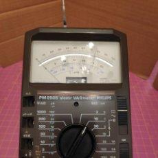 Radios antiguas: MULTÍMETRO POLÍMETRO VOLTIMETRO AMPERÍMETRO OHMETRO PHILIPS PM2505 - ELECTRÓNICO DE ALTA IMPEDANCIA. Lote 221852286