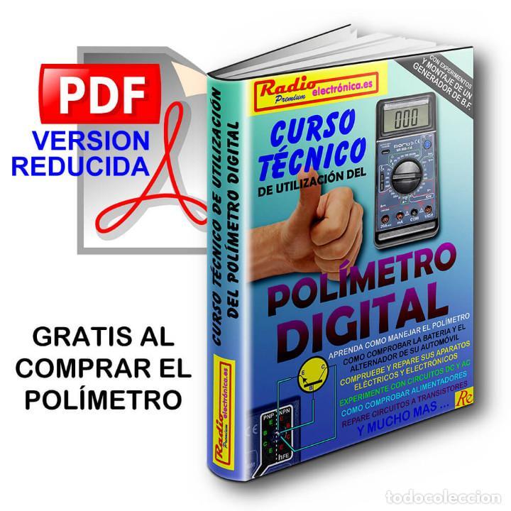 Radios antiguas: POLIMETRO DIGITAL MULTIMETRO CAPACIMETRO FRECUENCIMETRO NORU NR908-136 + CURSO PDF GRATIS - Foto 3 - 223068386