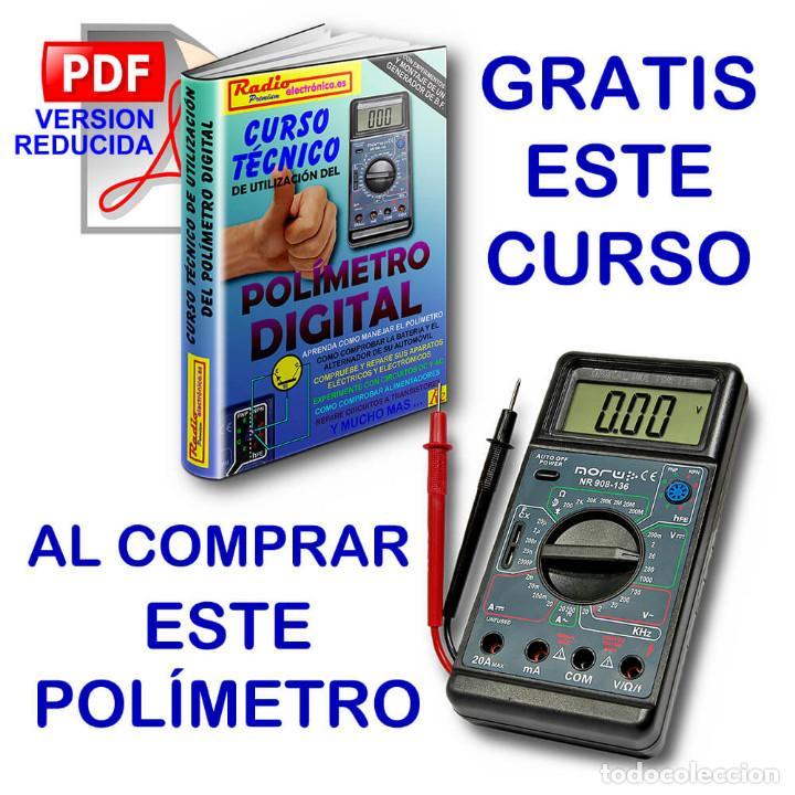 POLIMETRO DIGITAL MULTIMETRO CAPACIMETRO FRECUENCIMETRO NORU NR908-136 + CURSO PDF GRATIS (Radios - Aparatos de Reparación y Comprobación de Radios)