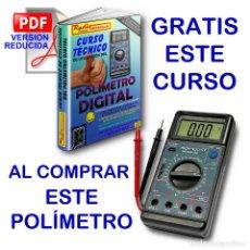 Radios antiguas: POLIMETRO DIGITAL MULTIMETRO CAPACIMETRO FRECUENCIMETRO NORU NR908-136 + CURSO PDF GRATIS. Lote 223068386