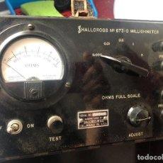 Radio antiche: TESTER MILIOHMIMETRO MEDIDOR RESISTENCIA AMERICANO, HALLCROSS MADE IN USA MILLIOHMETER. Lote 225998680