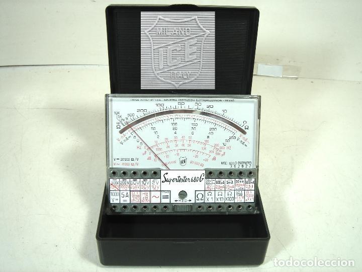 SUPERTESTER ICE 680-G ¡¡BUEN ESTADO ¡¡ TESTER POLIMETRO VOLTIMETRO -AMPERIMETRO SUPER 680G (Radios - Aparatos de Reparación y Comprobación de Radios)