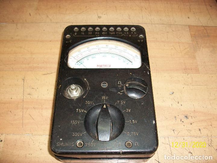 ANTIGUO TESTER - METRIX (Radios - Aparatos de Reparación y Comprobación de Radios)