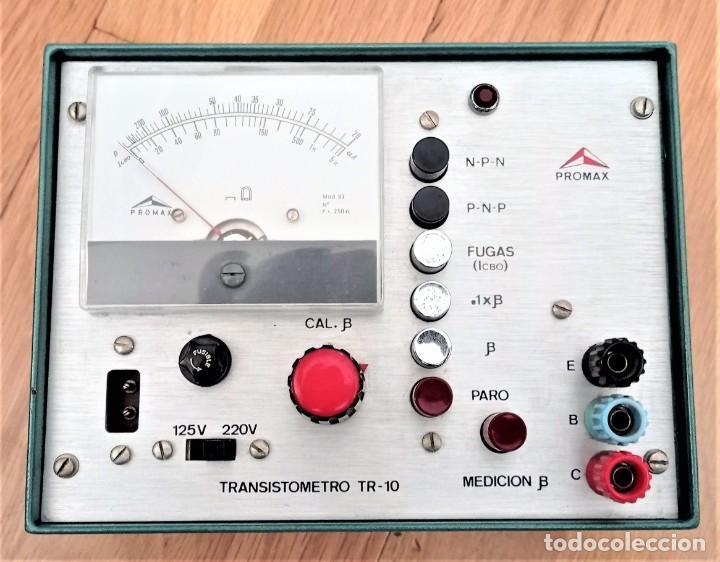 TRANSISTOMETRO TR-10 PROMAX (Radios - Aparatos de Reparación y Comprobación de Radios)