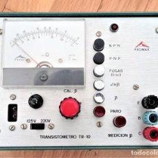 Radio antiche: TRANSISTOMETRO TR-10 PROMAX. Lote 240392490
